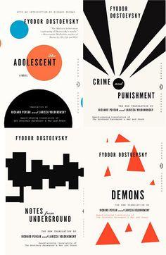Dostoyevsky design is by Peter Mendelsund, Vintage Classics