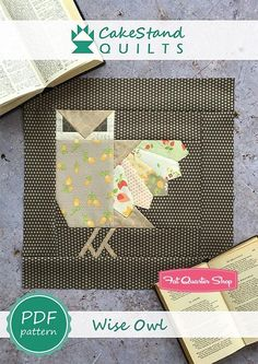 Wise Owl Downloadable PDF Block PatternCakeStand Quilts