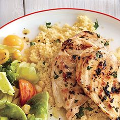 Herbed Couscous | MyRecipes.com With lemon parsley chicken and corn/tomato salad