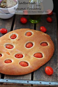 <3 Flatbread with roasted tomatoes <3  @RoxanaGreenGirl | Roxana's Home Baking
