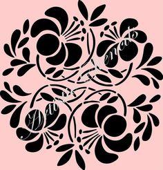 Round Floral Ornament No 2 Stencil