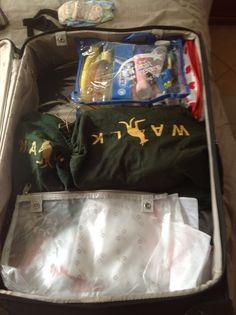 Organizando as malas para viajar