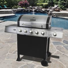 Dyna-Glo 5 Burner Open Cart Gas Grill! #cookout #grilling #grills #backyard #outdoors http://www.ghpgroupinc.com/product-details/DGB515SDP-D.html