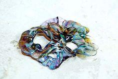 Dreaming in HeatherLampwork Glass Freeform Focal Bead by Beadtrap, $18.00