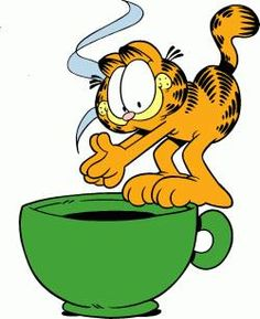 Garfield: it's time to dive into that morning work...