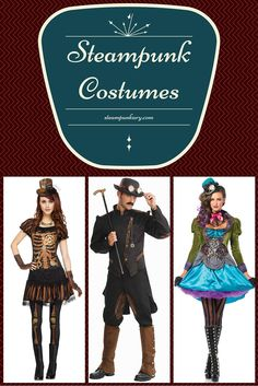 All of the steampunk costume possibilities in one place! 54 steampunk costumes and accessories