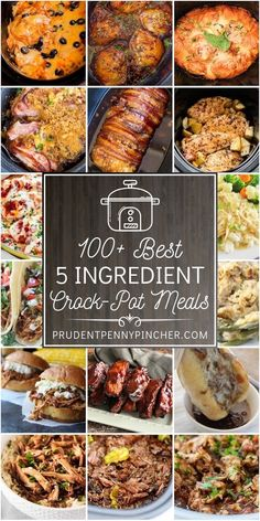 Make cheap and easy crockpot meals with these 5 ingredient (or less) crockpot recipes. From orange chicken to pot roast, there are plenty of delicious crockpot dinner recipes to choose from. Crockpot Dishes, Crock Pot Slow Cooker, Crock Pot Cooking, Slow Cooker Recipes, Best Crockpot Meals, Crockpot Recipes Cheap, Cheap Crock Pot Meals, Slow Cooker Summer Recipes, Crock Pot Dump Meals