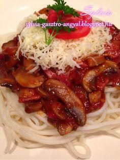 Sylvia Gasztro Angyal: Milánói makaróni My Recipes, Ketchup, Spaghetti, Ethnic Recipes, Food, Essen, Meals, Yemek, Noodle