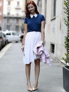 crop top sobre vestido street style