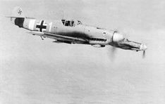 Couple fighters Bf.109F-4/Trop 53rd Luftwaffe squadron in flight