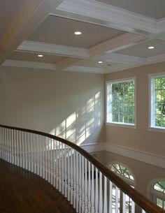 Rooney Craftsman Home | Indoor balcony, Wood railing and Railings