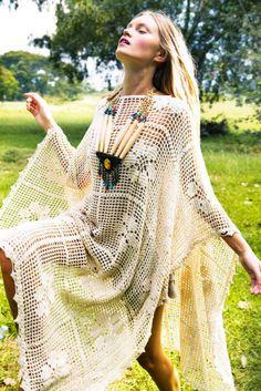We're loving this easy yet elegant crochet dress