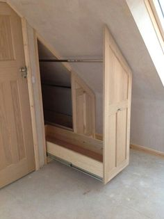 Mezzanine Loft Conversion extra storage idea of under the eaves in a loft conversion | house