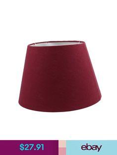 Dark Red Lamp Cover for Home Office Reading Lamp Red Lamp Shade, Lamp Shades, Lamp Cover, Dark Red, Garden, Ebay, Home Decor, Lampshades, Garten