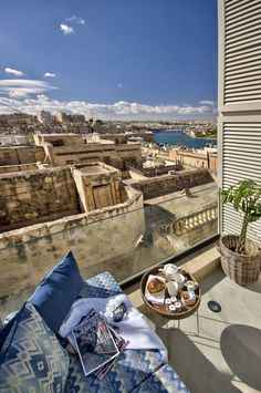 Ultimate relaxing spot || Casa Ellul -within the old walls of Valletta, Malta || Luxury Accommodations