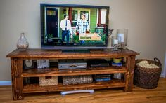 beautiful DIY tv stand! #DIY #lovehome