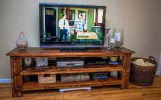 beautiful DIY tv stand! #DIY #lovehome