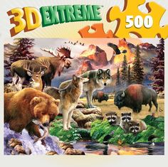 3D Extreme Lenticular - Call of the Wild - 500 Piece Jigsaw Puzzle