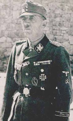 Romanian Volksdeutsche Artur Phleps, commander of the SS Division Prinz Eugen, made up of Vojvodina Germans.