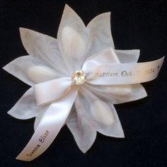 Portofino Ribbon Flower with 5 Jordan Almonds