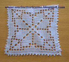 Miniature crochet square doily 6 cm, dollhouse crochet tablecloth, dollhouse miniature white small doily micro crochet by MiniGio Crochet Flower Squares, Crochet Square Patterns, Crochet Blocks, Doily Patterns, Crochet Blanket Patterns, Crochet Designs, Filet Crochet, Crochet Diagram, Crochet Motif