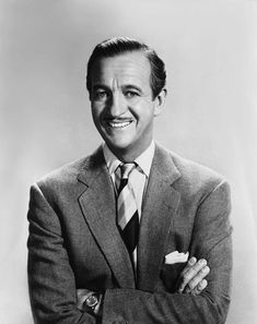 James David Graham Niven March 1910 – 29 July was an English actor and novelist who was popular in Europe and in the United States. David was awarded the Academy Award for Best Actor for his performance in 'Separate Tables' Old Hollywood Stars, Classic Hollywood, Grace Kelly, Marilyn Monroe, David Niven, Alec Guinness, William Powell, Celebrities Then And Now, Star David