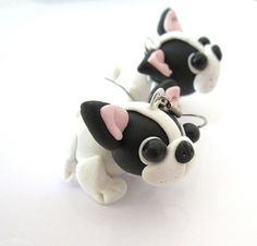 French Bullldoggen puppies earrings