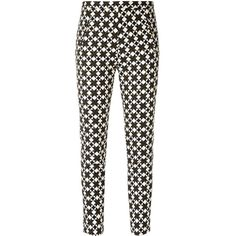 Andrea Marques all-over print trousers (€335) ❤ liked on Polyvore featuring pants, black, andrea marques and mid rise pants