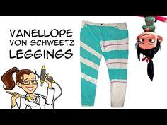 DIY Vanellope von Schweetz Leggings Wreck it Ralph Cosplay: Crafty McFangirl Tutorial - YouTube