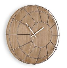 RETRO METAL CAGED WALL CLOCK