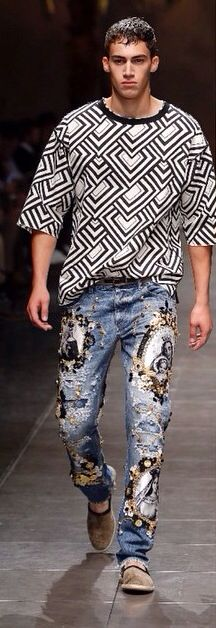 D&G: I normally don't like a bunch of bullshit on my denim but these just as art are too dope