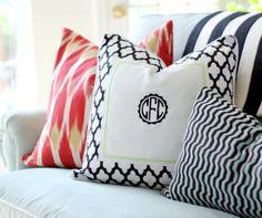 PB Teen Monogrammed Pillows by hi sugarplum! $30.00