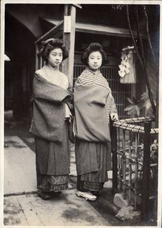 Two Japanese Beauties by Elstner Hilton, 1914-8