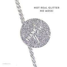 Andaz Press Circle Gift Tags, Chic Style, Thank You, Printed Silver Glitter, 24-Pack ** Details can be found by clicking on the image.