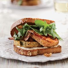 This is a brilliant marriage of two classics: cornmeal-dusted green tomatoes and a bacon, lettuce and tomato sandwich.