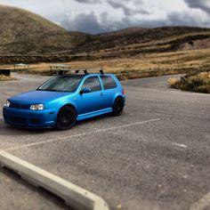 Mk4 R32 VW Matte Blue Wrap motoringskins.com | volkswagen | golf | vdub