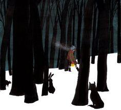Singing Away the Dark by Caroline Woodward and Julie Morstad