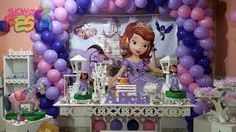 Resultado de imagem para decoração de festa princesa sofia