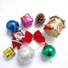 8pcs/pack   2016 Novelty toys new beautiful Christmas gifts Christmas decorations Christmas Tree Pendant