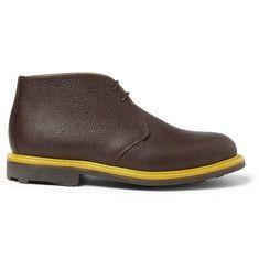 Mark McNairyTextured-Leather Chukka Boots.