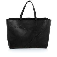FEYNSINN Handtasche JAX PUZZLE - Leder Umhängetasche schwarz Taschen Damentaschen Handtaschen