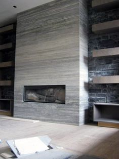 Grey Ceramic Fireplace Tile Ideas