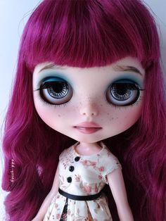OOAK+Factory+Blythe+Custom+Art+Doll++Scarlett+par+MostlyLulu,+$385,00