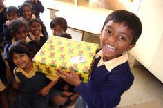 The joy of receiving a gift!