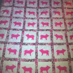 Pig quilt - idea came from my head :)