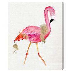Glam Flamingo Canvas Print, Oliver Gal