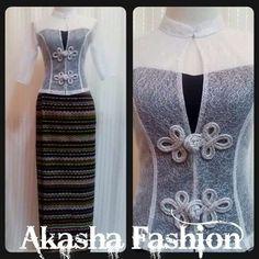 So cute!! Myanmar Traditional Dress, Thai Traditional Dress, Traditional Outfits, Thai Dress, Grad Dresses, Formal Dresses, Themed Outfits, Lovely Dresses, African Dress