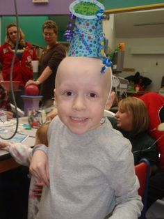 """Luke getting chemotherapy on his fourth birthday in 2009. He was diagnosed with Stage 4 Embryonal Rhabdomyosarcoma in 2008.  Luke is currently cancer-free and in kindergarten.  His mom, Monica Marcelis Fochtman, writes, """"Luke loves to draw, play legos and read. Every day is a gift."""""""