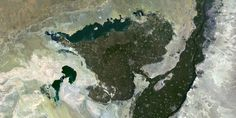 Faiyum Oasis, Egypt - Basin in the desert west of the Nile and south of Cairo - PlanetSAT satellite image.