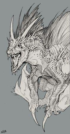 Dragon, NI O on ArtStation at https://www.artstation.com/artwork/laO35